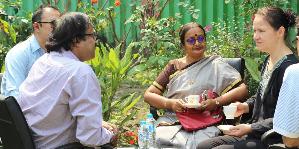 Academic Meetings at the college garden